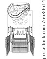 Powerful Press. Vector 76680614