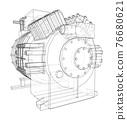 Air conditioning compressor. Vector 76680621