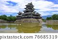 summer, matsumoto castle, moat 76685319