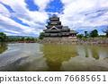 force, summer clouds, matsumoto castle 76685651