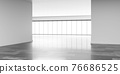 empty big bright loft office room with marble floor and bright day lighting 3d render illustration 76686525