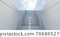 modern contemporary architecture stair case with marble tiles 3d render illustration 76686527