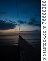 在日落的Haruoka碼頭 76688388