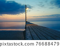 在日落的Haruoka碼頭 76688479