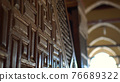 Mosque of Amr ibn al-As beautiful handcrafted wooden Isalamic details 76689322