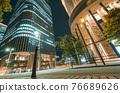 大阪市中心的中之島節日塔夜景 76689626
