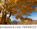 View of Mt.Fuji and autumn leaves of Mt. 76698222