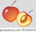 Peach cartoon style isolated 76700470