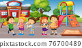 Student at school playground 76700489