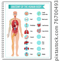Anatomy of the human body information infographic 76700493