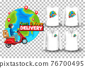 Set of mockup shirt with delivery theme 76700495