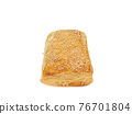 Tuna pie, a close up of homemade crispy tuna puff pastry bakery isolated on white background. 76701804