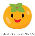 可愛的柿子圖標 76707222