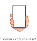 手與智能手機 76708324
