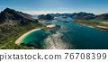Panorama Beach Lofoten archipelago islands beach 76708399