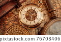 Vintage pocket watch. Vintage background Concept of time history. 76708406