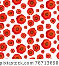 Poppy seamless pattern on white background 76713698