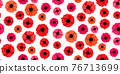 Seamless pattern with poppies on white background 76713699