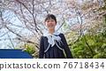 cherry blossom, cherry tree, child 76718434