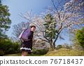 cherry blossom, cherry tree, child 76718437