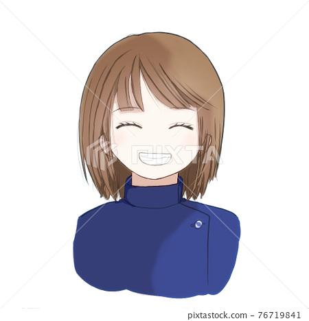 미소의 소녀 76719841
