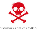 Vector icon of skull with blood drops. 76725815