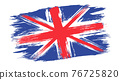 Vector vintage British flag. Drawing flag of UK in grunge style. 76725820