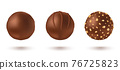 Vector set chocolate candies in realistic style. 76725823