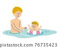 游泳圈 充氣 父親 76735423