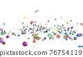 CG立方體許多滾動立方體 76754119