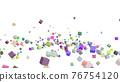 CG立方體許多滾動立方體 76754120