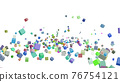 CG立方體許多滾動立方體 76754121