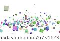 CG立方體許多滾動立方體 76754123
