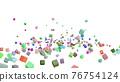 CG立方體許多滾動立方體 76754124