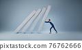 Businessman help pushing bar graph 76762666