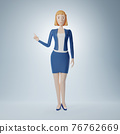 Cartoon character business woman 76762669
