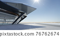 Steel and glass modern building exterior. 3D rendering 76762674