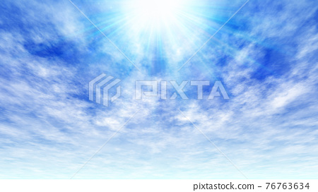 Blue sky background material 76763634