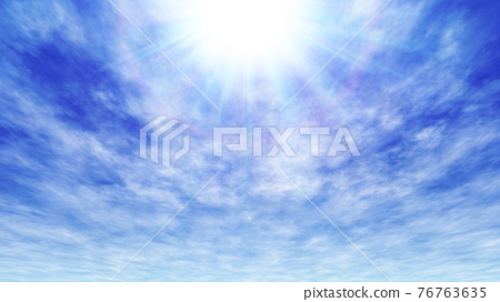 Blue sky background material 76763635