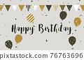 Happy Birthday banner celebration background 76763696