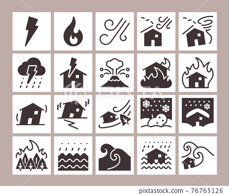 Disaster icon set 76765126