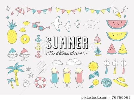Simple summer motif material set 76766065