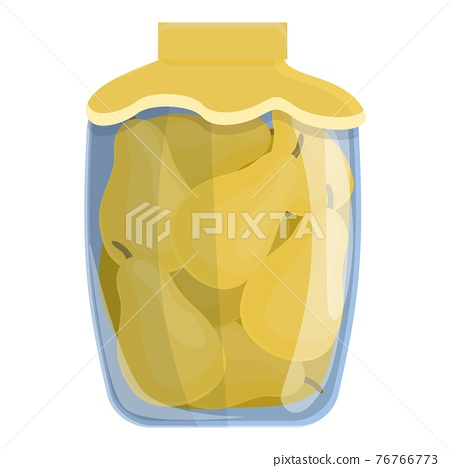 Canned pears icon, cartoon style 76766773