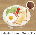 breakfast, watercolour, watercolors 76766912