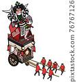 festival, gala, portable shrine 76767126
