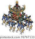festival, gala, portable shrine 76767133