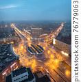 Wroclaw, Poland. Aerial view of Plac Grunwaldzki square 76779063