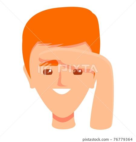 Seeing sense icon, cartoon style 76779364