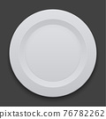 vector modern dish plate on white background. 76782262