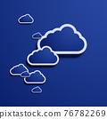 Vector modern computer cloud creative background. 76782269